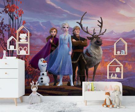 """Frozen 2"" Paper wallpaper mural"